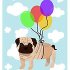 Pug in the sky by Elinor Barnes