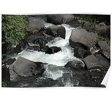 Whitewater Rapids at Peguche Falls Poster