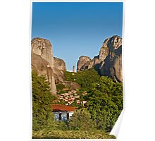 Kastraki village, Meteora Poster