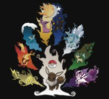 Eeveelution Tree ver. 2 by LadyTankStudios