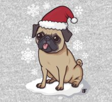Christmas Pug (red) One Piece - Short Sleeve