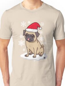 Christmas Pug (red) Unisex T-Shirt