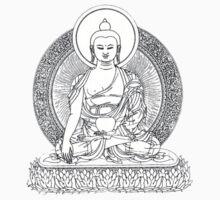 Buddha Line Art Buddhist Zem Om Peace One Piece - Short Sleeve