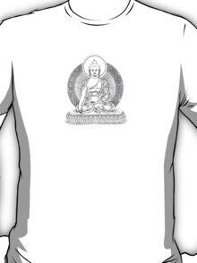 Buddha Line Art Buddhist Zem Om Peace T-Shirt
