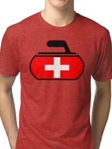 Switzerland Curling Tri-blend T-Shirt