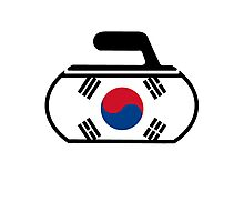 South Korea Curling Photographic Print