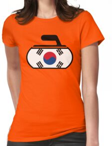 South Korea Curling Womens Fitted T-Shirt
