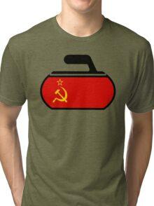 USSR Curling Tri-blend T-Shirt