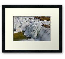Frosty Falling Water Framed Print