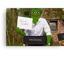 Harrison 'Pepe' Ford the Smug Frog - Hello 4chan Canvas Print