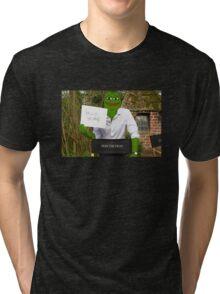 Harrison 'Pepe' Ford the Smug Frog - Hello 4chan Tri-blend T-Shirt
