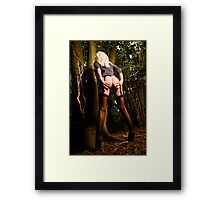 Down the woods  Framed Print