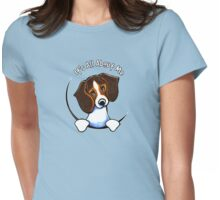 Tricolor Beagle IAAM Womens Fitted T-Shirt