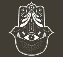 Hamsa Hand Tee by sparksandburns