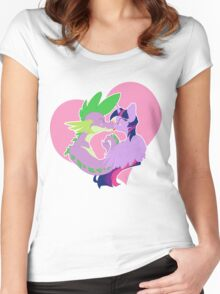 Twilight and Spike Smooch Women's Fitted Scoop T-Shirt