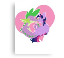 Twilight and Spike Smooch Canvas Print