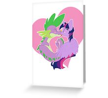 Twilight and Spike Smooch Greeting Card