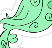 Fancy Green Bird Sticker