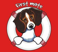 Tricolor Beagle First Mate Kids Tee