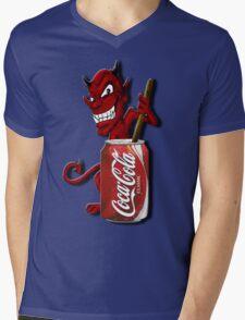 Coke Is The Devil Mens V-Neck T-Shirt