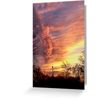 Newark sunset Greeting Card