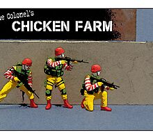 Raid on the Colonel's chicken farm! by Tim Constable