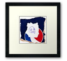 """Worm Face"" by Richard F. Yates Framed Print"