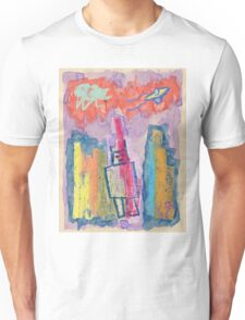 """Robot Conquers City"" by Richard F. Yates Unisex T-Shirt"