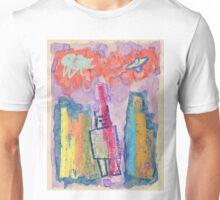 """Robot Conquers City"" by Richard F. Yates Unisex T-Shirt"