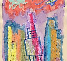 """Robot Conquers City"" by Richard F. Yates by richardfyates"