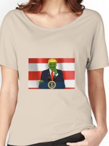 President Donald 'Pepe' Trump the Smug Frog Women's Relaxed Fit T-Shirt