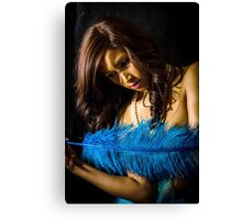 Blue Feather 11 Canvas Print