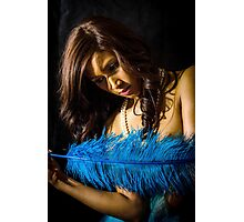Blue Feather 11 Photographic Print