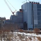 High Line, Snow View, High Line Headquarters, Whitney Museum Under Construction, New York City  by lenspiro