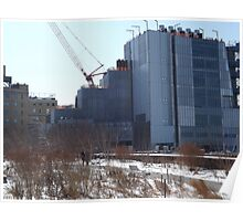 High Line, Snow View, High Line Headquarters, Whitney Museum Under Construction, New York City  Poster