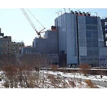 High Line, Snow View, High Line Headquarters, Whitney Museum Under Construction, New York City  Photographic Print