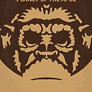 No270 My PLANET OF THE APES minimal movie poster by Chungkong