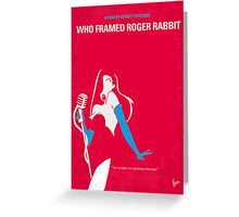 No271 My ROGER RABBIT minimal movie poster Greeting Card