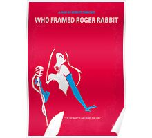 No271 My ROGER RABBIT minimal movie poster Poster