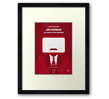 No278 My Anchorman Ron Burgundy minimal movie poster Framed Print