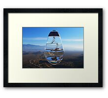 Surreal Glass House - The Water Droplet Framed Print