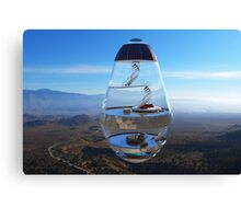 Surreal Glass House - The Water Droplet Canvas Print