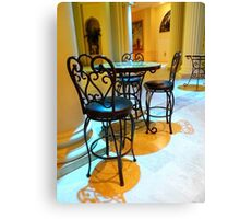 Table & Chairs of the Church Canvas Print