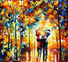 UNDER ONE UMBRELLA by Leonid  Afremov