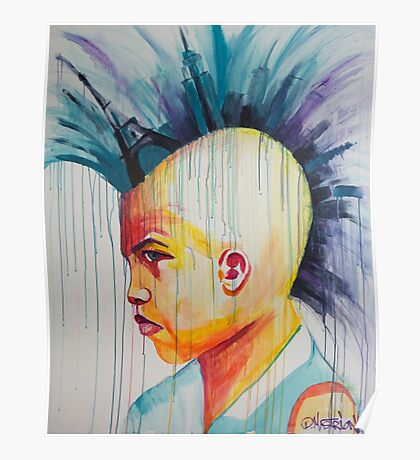 Mohawk by Danielle Mastrion Poster