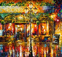 CLARENS MISTY CAFE by Leonid  Afremov