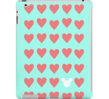 Hidden Mickey- Mint & Coral iPad Case/Skin
