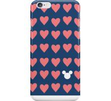 Hidden Mickey- Navy & Coral iPhone Case/Skin