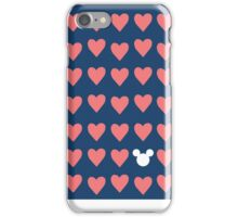 Hidden Mickey- Navy & Coral iPhone Case/Skin