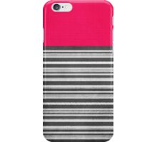 Pink Gray Stripes iPhone Case/Skin